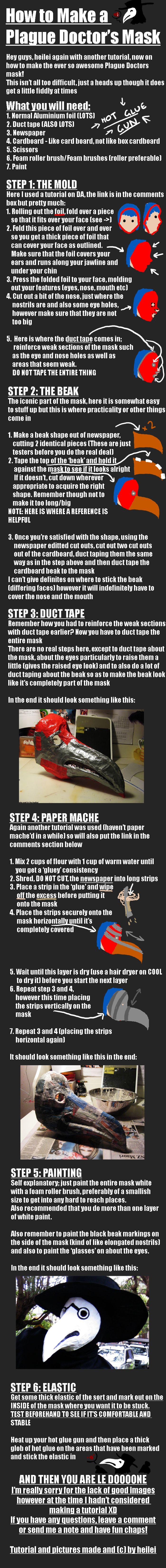 How To: Plague Doctor's Mask by heilei.deviantart.com on @deviantART