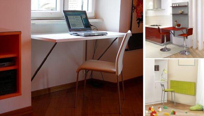 Mejores 26 im genes de escritorios en pinterest - Mesas de estudio para espacios pequenos ...