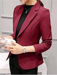1fc8d8ea85a Mujer Ordinario Diario Primavera Regular Blazer