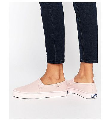 Double Decker Washed Leather Pale Pink Slip On Sneakers by Keds. Sneakers by Keds, Real leather upper, Round toe, Stitch detail, Brand logo, Thick sole, Textured tread, Treat with a ...
