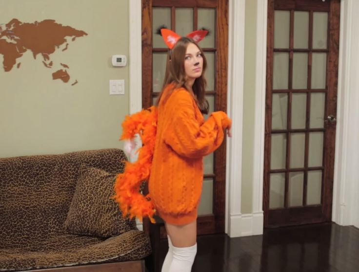 52 best costumes and halloween tsg images on pinterest costume diy fox halloween costume super easy and last minute solutioingenieria Gallery