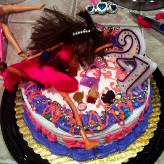 17 Best Images About 21st Birthday Cake Ideas On Pinterest