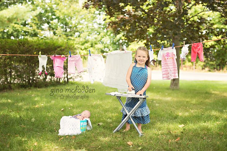 Mini session with newborn and big sister Gina McFadden Photography on Facebook