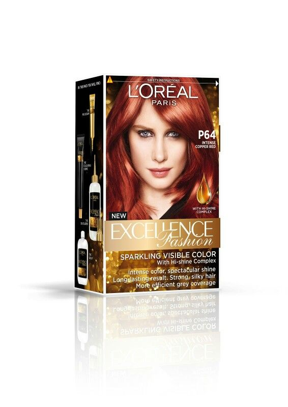 Loreal Excellence Fashion Hair Dye Copper Red Hair
