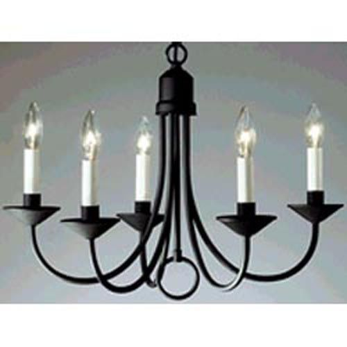 P4008 31: Primitive Black Iron Chandelier Progress Lighting Candles Without Shades Chande