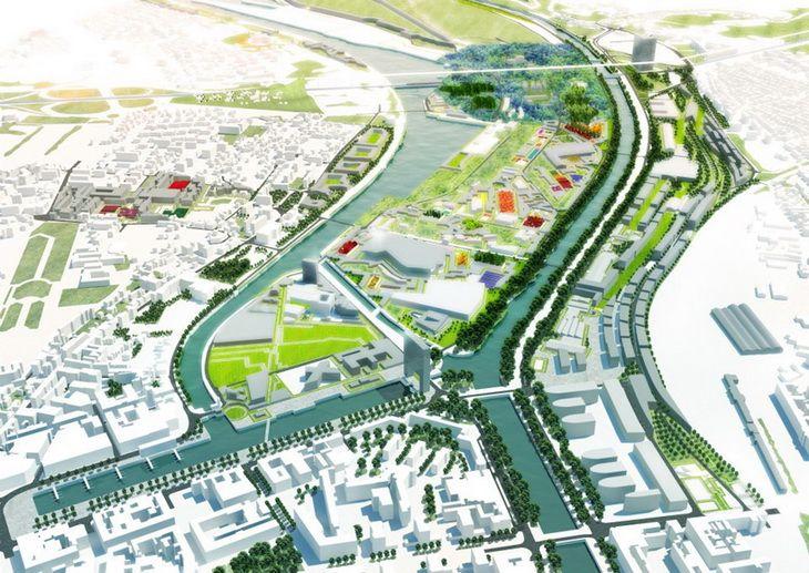 MVRDV Wins Port Transformation 600ha Caen, France