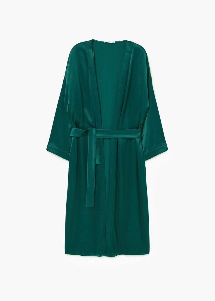 Satined robe | MANGO