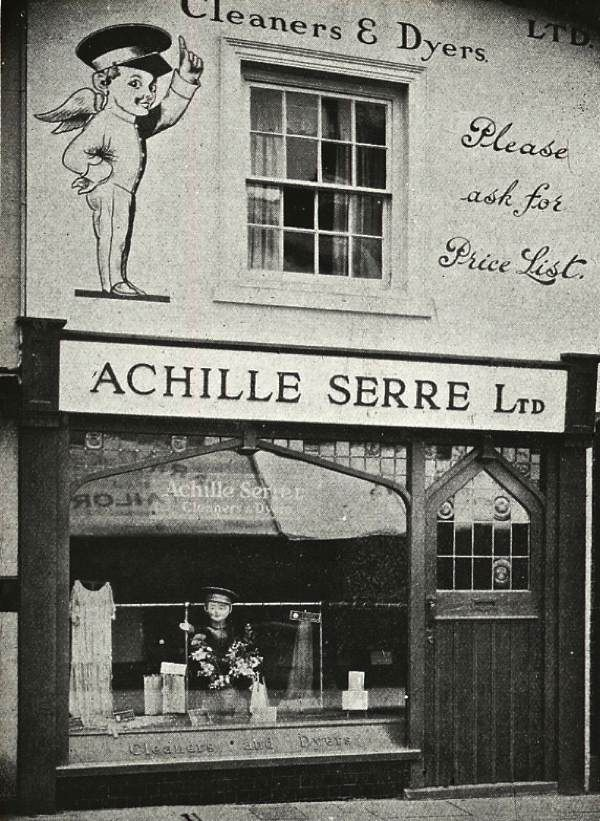 Achille Serre, Cleaner & Dyers, 1920 - The Shops of Old London ++ http://spitalfieldslife.com/2012/11/17/the-shops-of-old-london/