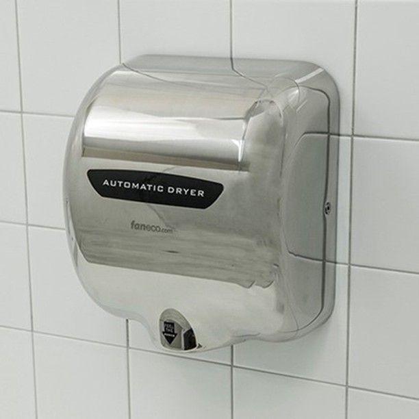 #Automatyczna #energooszczędna #suszarka do rąk - obudowa: #stal #nierdzewna - zastosowanie: #toaleta #publiczna // #handdryer #publictoilet