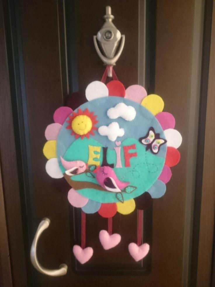 Pratik keçeden kapı süsü Canım kızım için:)