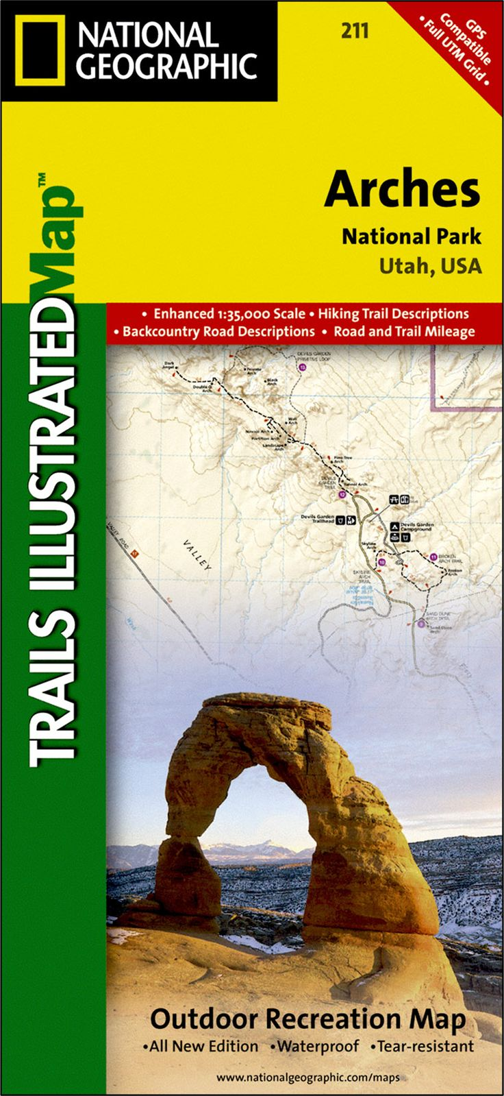 Explore Arches National Park with our guide in hand. Arches National Park Trail Map | National Geographic Store