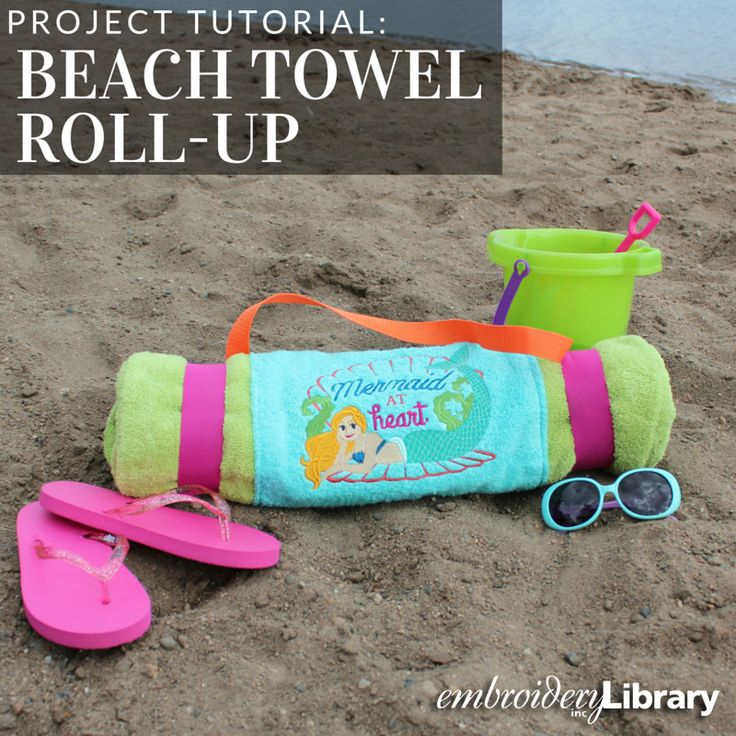 Beach Blanket Experiment: Carry Your Beach Gear In Style With This Roll-up Beach
