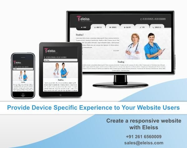 Contact us on +91 261 6510525 or sales@eleiss.com to have a look at our new ‪#‎responsive‬ ‪#‎website‬ range #eleiss template r052