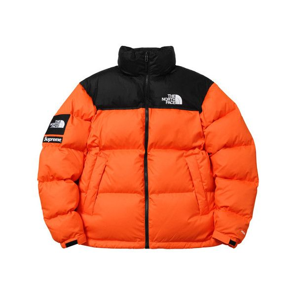 Supreme Supreme /The North Face Nuptse Jacket ($368) ❤ liked on Polyvore featuring outerwear, jackets and the north face