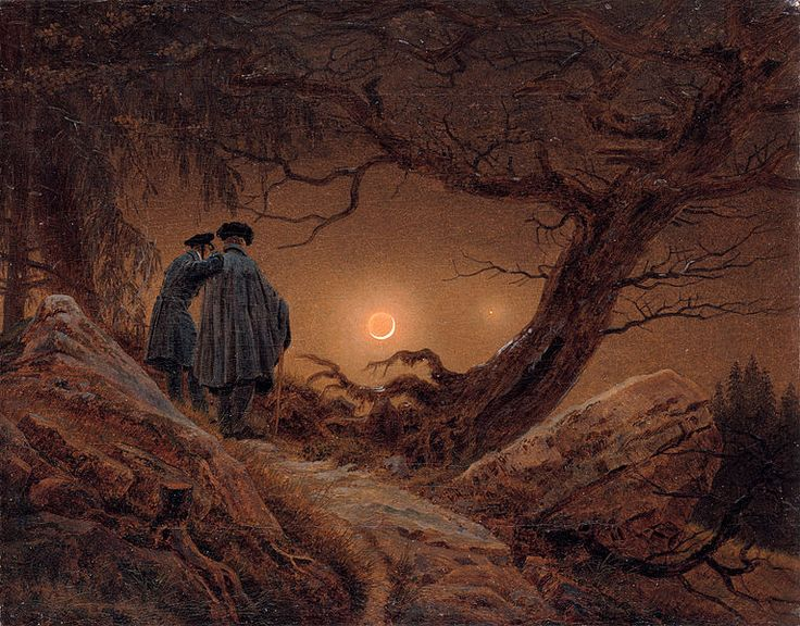 10 best images about caspar david friedrich moonwatchers on pinterest watercolors romantic. Black Bedroom Furniture Sets. Home Design Ideas