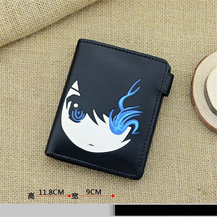 Japan Anime BRS BLACK ROCK SHOOTER Cosplay PU Leather Cartoon Wallet Purse Notecase Short Moneybag Free Shipping