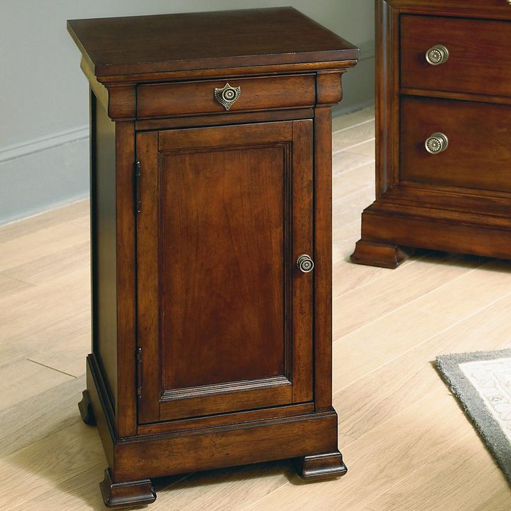 Louis Philippe Bedside Cabinet In A Traditional Cherry Finish At D Noblinu2026