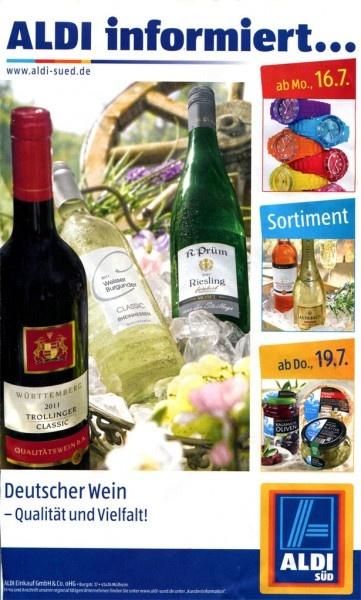 Aldi Süd KW29 - Deutscher Wein - Qualität und Vielfallt