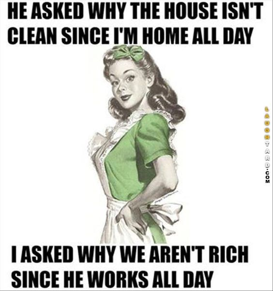 The house isn't clean