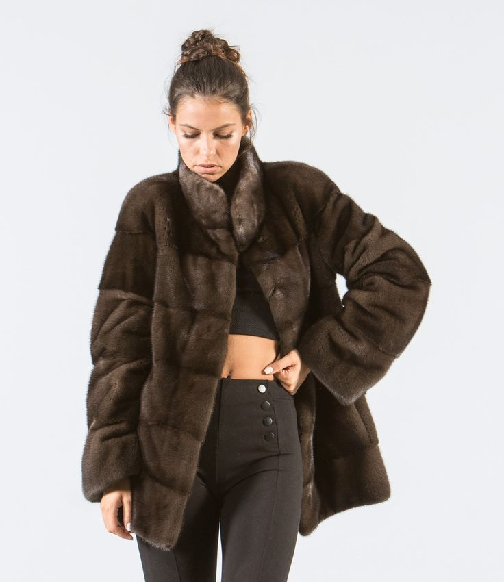 Chocolate Brown Mink Fur Jacket     #brown #mink #fur #jacket #real #style #realfur #elegant #haute #luxury #chic #outfit #women #classy #online #store
