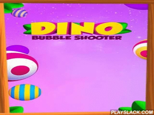 """Dino Bubble Shooter  Android Game - playslack.com , The game in """"3 in a row"""" kinds,where small dino will demolish akin balls."""