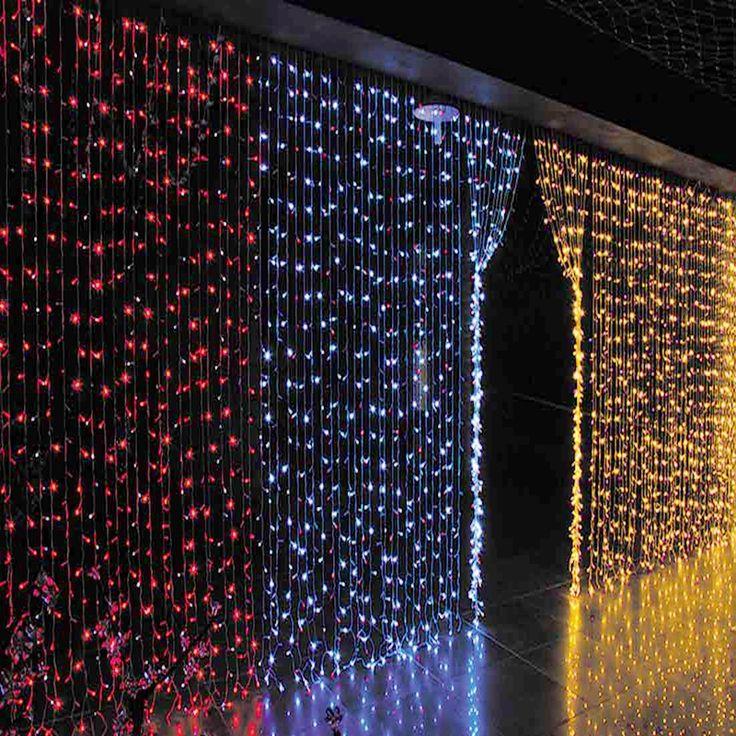 6M x 3M 600 LED Wedding Light icicle Christmas Light LED String Fairy Light Bulb Garden Curtain Decor 3x1.5M 144 LED/3x3M 300LED #Affiliate