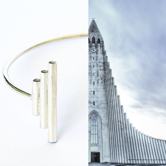 When Architecture meets jewellery / bracelet /  collection inspired by the Hallgrímskirkja catedral, Reykjavík, Iceland.