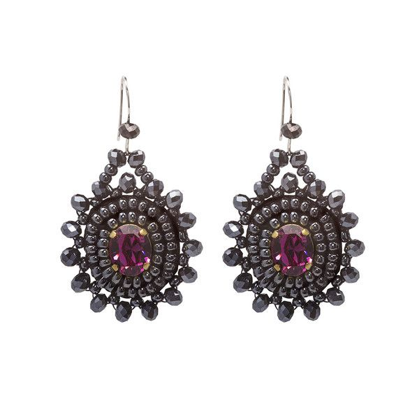Your ears will love our Rosita earrings. They are carefully hand beaded on rich satin, making them extremely light and comfortable despite their large size.