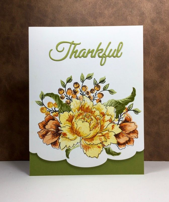 Peony Bouquet: Altenew, thankful die: PB, by beesmom at splitcoast, flower sketch
