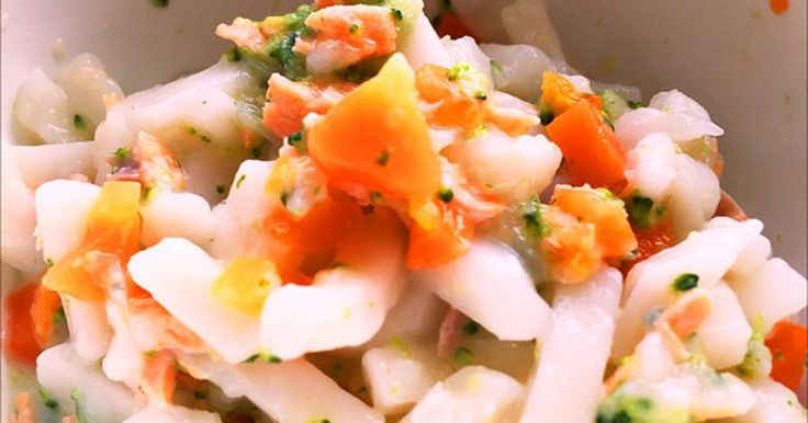 離乳食*中期〜♡鮭と野菜の豆乳うどん by Rくんママ [クックパッド] 簡単おいしいみんなのレシピが258万品