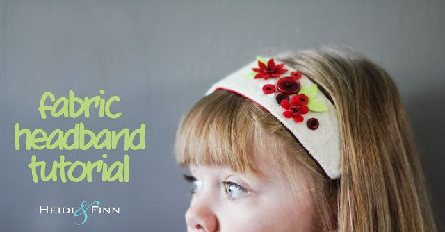 HeidiandFinn modern wears for kids: Fabric Headband Tutorial