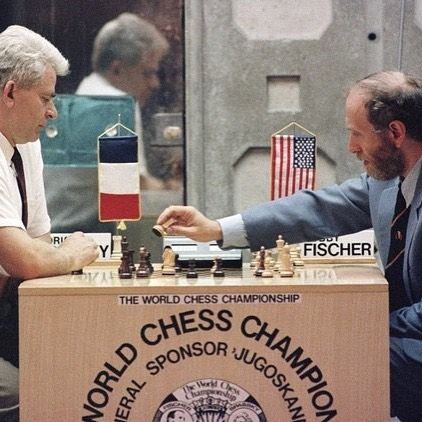 The great Bobby Fischer vs. Borris Spassky #chess #chesslover #chessplayer #chessislove #chessislife #chessiscool #chessisfun #grandmaster #chessclub #planetchess #checkmate #check #chessgame #chessboard #bobbyfischer