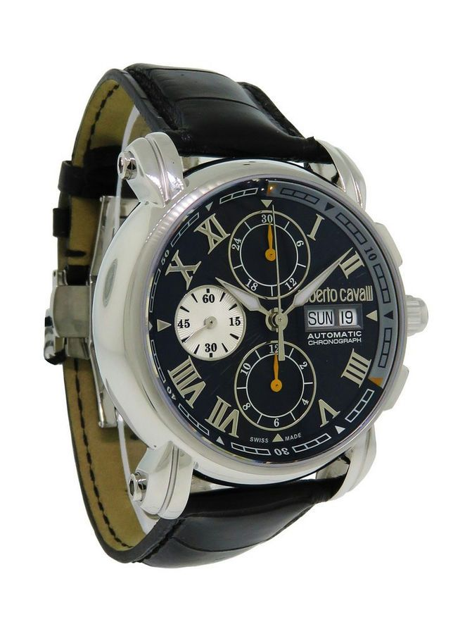8f438b49e03b1 Roberto Cavalli R7241672125 Men s Automatic Day Date Chronograph Alligator  Watch 8033288533719 eBay Men apos Automatic