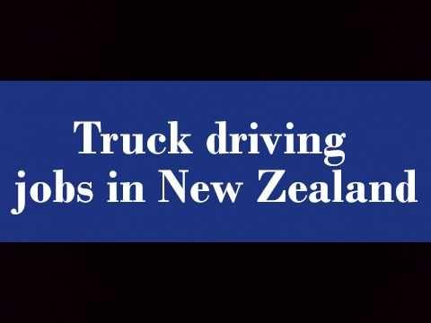 Truck driving jobs in New Zealand