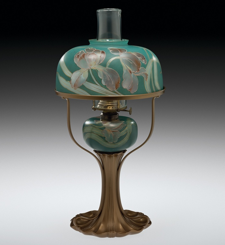 Antique Tiffany Chandeliers 1900: Kerosene Lamp By Pairpoint Manufacturing Co. C. 1900-1903