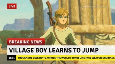 Never has anyone been more excited that a character can jump than the Legend of Zelda fans.