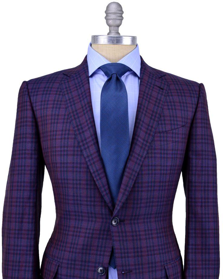 Ermenegildo Zegna Purple Plaid Blazer Purplestyle