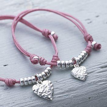 mummy & me heart friendship bracelet set by lily belle junior | notonthehighstreet.com
