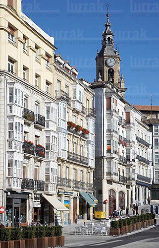 Plaza de La Virgen Blanca. Vitoria, Alava, Euskadi