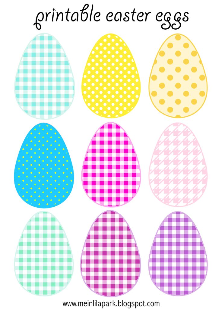 FREE printable Easter Eggs (in 3 different sizes)