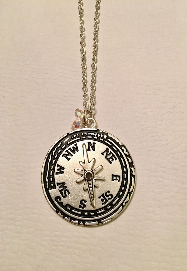 Excited to share the latest addition to my #etsy shop: Antique Silver Compass Necklace! Nautical Necklace!  http://etsy.me/2CAD2s7 #jewelry #necklace #silver #nauticalnecklace #giftsforher #compassjewelry