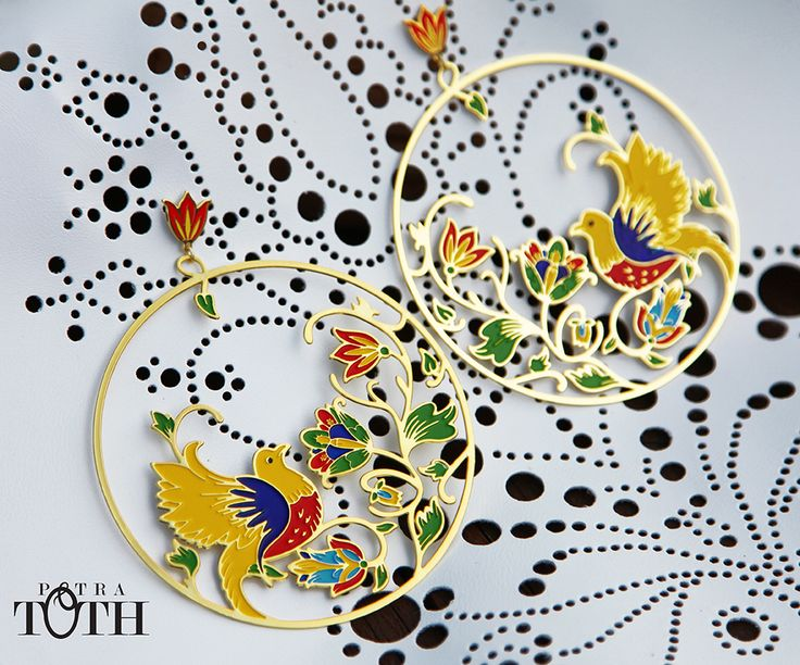 Earrings - Slovakian folk ornaments. www.petratoth.sk