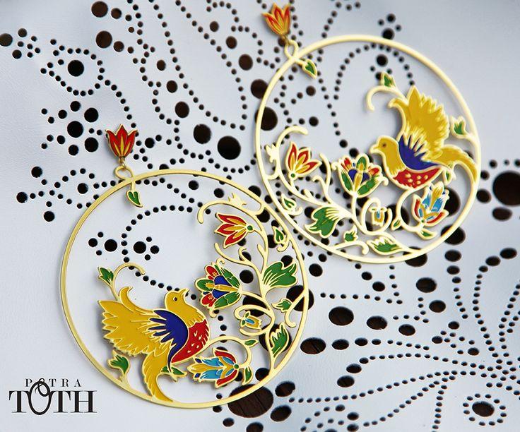 Earrings - Slovakian folk ornaments. www.petratoth.sk