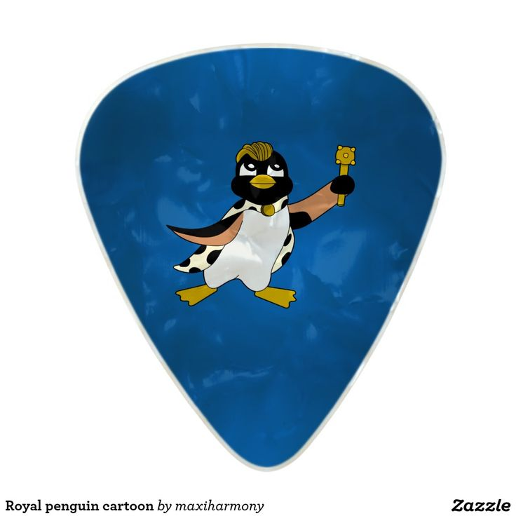 Royal penguin cartoon pearl celluloid guitar pick
