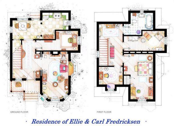 Carl Fredricksen's (UP) house floor plan.
