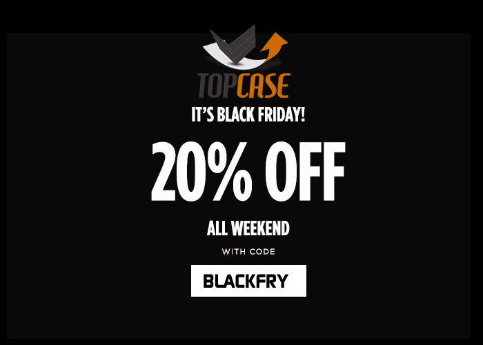 Black Friday en TopCase. 20% de descuento en fundas para tu kindle.