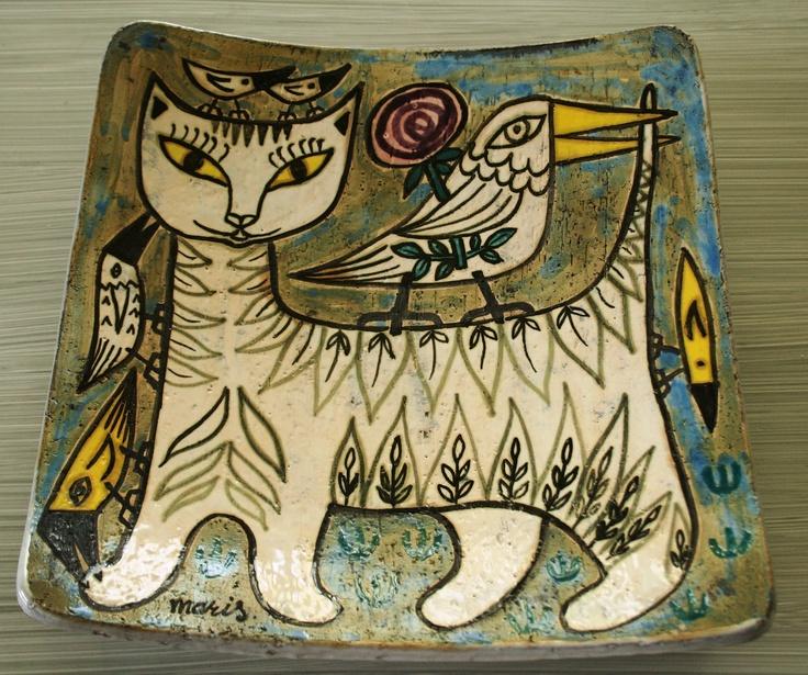 Ceramic tray by Mari Simmulson, Uppsala Ekeby, Sweden.