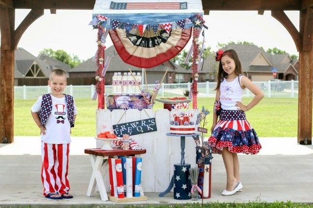 A Glorious 4th of July Party with a Patriotic Fireworks Stand