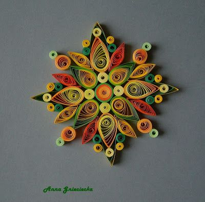 spring quilling ornaments by Anna Gnieciecka