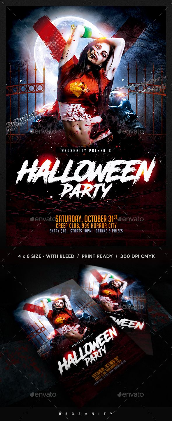 halloween flyer template psd very easy to edit flyers